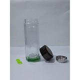 绿布纹水晶玻璃杯 礼品杯