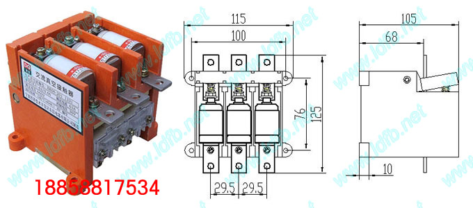 ckj5-63/1140真空交流接触器