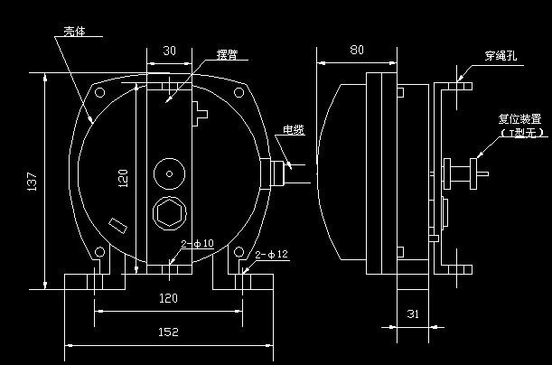 (2)ii型拉绳开关接线与s型相同.
