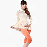 2013夏季新款 孕妇装 棉七分两侧折皱托腹七分裤 打底裤 孕妇裤