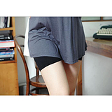 【厂家直销】供应莫代尔三分平脚孕妇打底裤 时尚孕妇裤批发