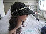 【工厂原单】大檐太阳帽女/春夏季用/遮阳防晒/波点装饰/沙滩帽