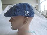 【工厂原单】牛仔鸭舌帽/前进帽/JAZZ字母装饰/遮阳透气/水洗做旧