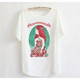 厂家直销2013春夏女创意清新蝙蝠衫短袖T恤宽松大码头像潮m