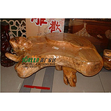 潍坊根雕茶桌茶台|潍坊花格木雕|潍坊仿古家具0614
