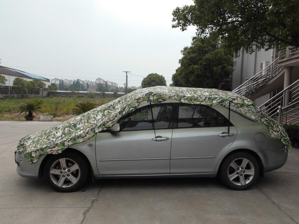 夏季专用汽车遮阳篷 罩 车衣 牢固可靠 随车便携 操作简单高清图片