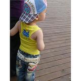 【爆款批发】2013新款童装男童可爱休闲韩版网纱条纹背心 bab