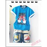 【批发】2013新款童装男童休闲运动印花短袖 babi-002
