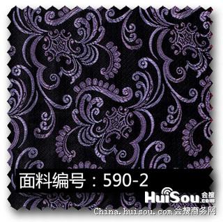 纺织,皮革 紫色欧式复古花纹高密度提花布面料  供应商:深圳智朋文化