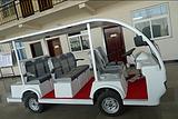 8座电动观光车,动力强劲,环保低噪
