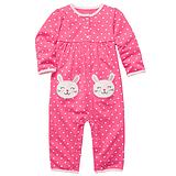 卡特童装秋装新款女宝宝兔子造型爬服 新生婴儿纯棉长袖连体衣