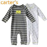 卡特童装秋装新款新生儿长袖卡通造型连体衣2件套 宝宝纯棉衣服