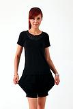 2013新款女士珍珠纤维花边领T恤 吸湿透气健康舒适