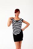 2013女士休闲条纹衫 珍珠纤维保健舒适 吸湿透气