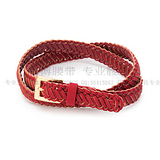 红色pu编织腰带 衣服配带