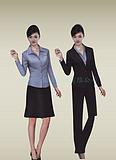 常州凯韵服饰供应黑色西服 女式衬衫