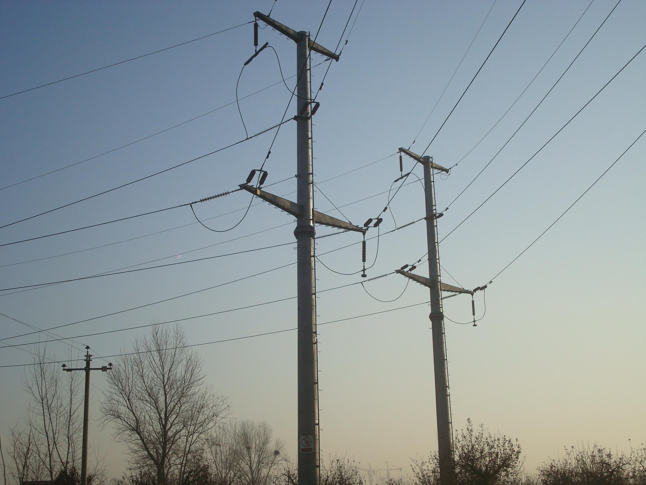电工电气 配电输电设备 武汉 架空输电线路10kv 35kv 终端 电力钢管杆