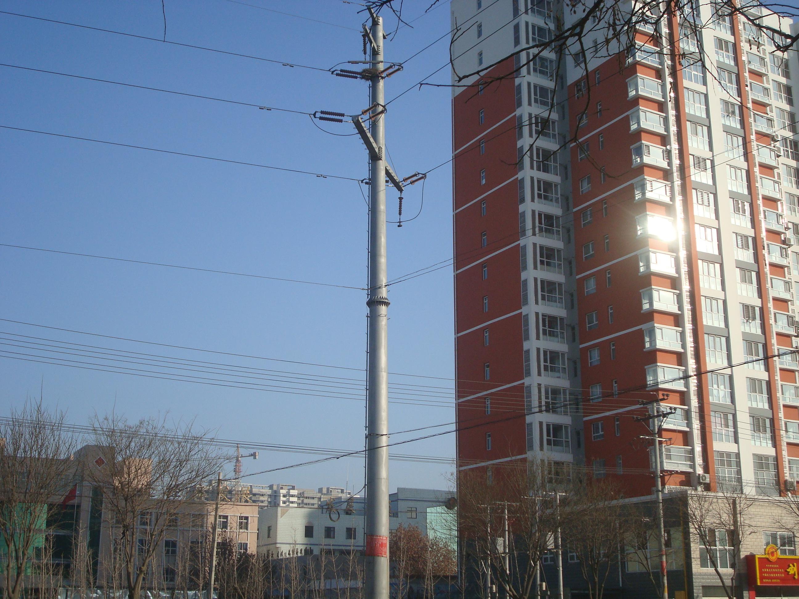 武汉 架空输电线路10kv 35kv 终端 电力钢管杆 电力钢杆