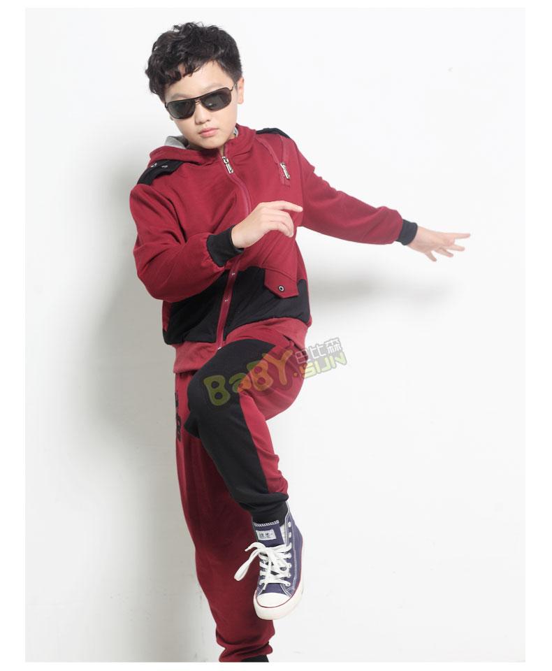 新品童装男童秋装套装 韩版新款儿童运动套装 中大童少年服装潮