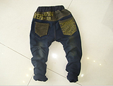 韩版儿童牛仔裤 男女2013秋款童装 时尚潮流韩版童裤 一手批发