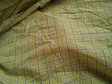 黄色格子图案面料