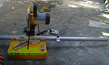 供应辽宁晶钢门橱柜门90度45度精准手提切割机
