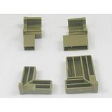 供应青海晶钢门新料ABS角码晶钢门镀铬亮光角码