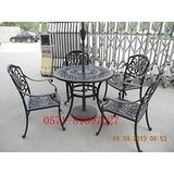 供应铸铝家具,铸铝垃圾箱,铸铝垃圾桶,铸铝一桌两椅
