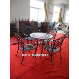 供应铸铝家具,铸铝休闲家具,铸铝一桌六椅,铸铝一桌四椅