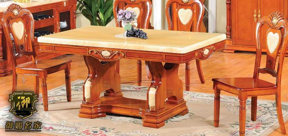 御赐名家天然大理石餐桌