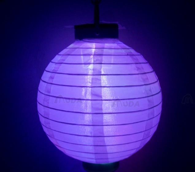 紫色灯笼手绘图案