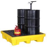 双桶四桶单桶防泄漏盛漏托盘 实验室仓库防泄漏 耐酸碱可使用叉车
