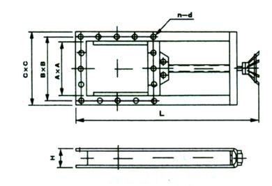 lmd单向螺旋闸门结构图