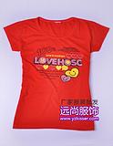 广州的6月就是夏季了2014最便宜的圆领亲子装t恤批发