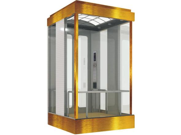 现代化设计融合先进科技,TGJ电梯能遵照您的要求,定制不同视野宽度的观光电梯。从90°单面视野到360°全视野,给乘客宽阔、舒适的感受。简约或豪华,充满现代气息,适合各种商业写字楼,广场,购物中心等建筑。 特点 90°到360°视野轿厢 钢化夹胶玻璃:美观,安全 无齿轮曳引机:安全,高效,环保,低噪 参数
