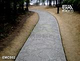 天津彩色压膜地坪、彩色混泥土、透水混泥土