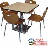 供应鹤岗肯德基曲木餐桌椅广州生产定制,广州餐厅家具厂