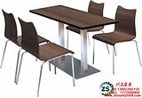 供应梧州餐厅家具曲木餐桌椅广州周氏家具厂定制