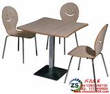 供应黑河肯德基曲木餐桌椅定做价格