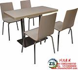 供应绥化肯德基曲木餐桌椅广州周氏厂家特价销售