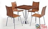 供应时尚耐用餐厅家具曲木餐桌椅广州厂家销售