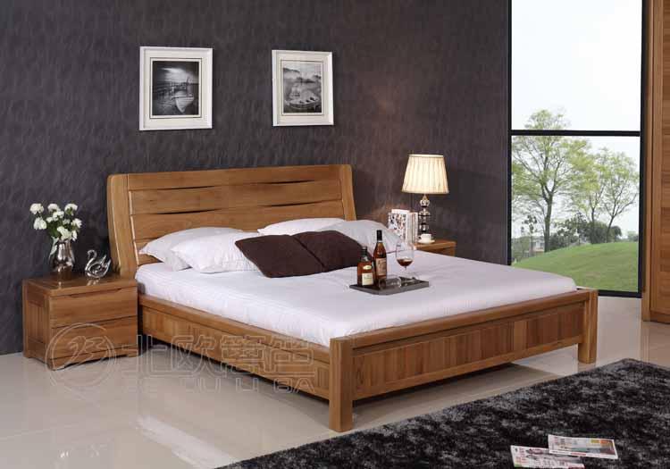 卧室家具 工厂直销现代简约实木床