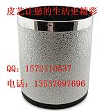深圳皮具厂生产酒店用品客房皮具垃圾桶高档皮革垃圾桶
