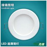 厂家价格/长期供应上海绿锦品牌LED超薄筒灯 LJ-CB-Y