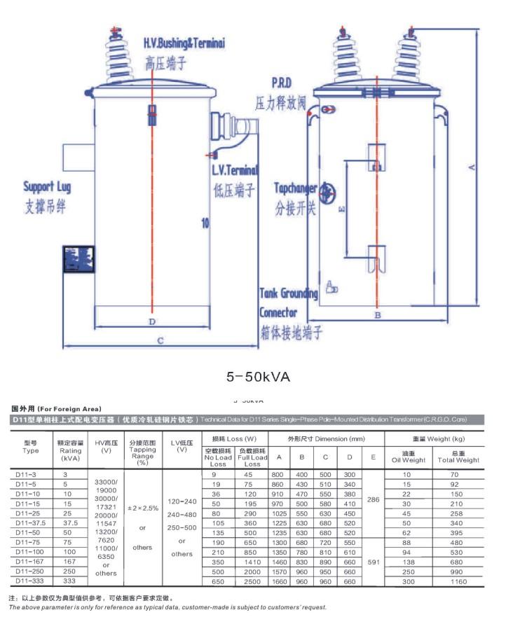 配电变压器价格_三迪单相柱上式配电变电器批发价格