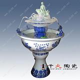 陶瓷喷泉加湿器 陶瓷流水喷泉 陶瓷喷泉厂家