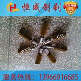 工业毛刷辊 不锈钢丝弹簧刷 锅炉清扫铜丝刷 除锈除毛刺弹簧刷
