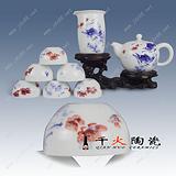 供应批发景德镇陶瓷茶具 促销中秋礼品茶具