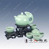 青釉茶具套装批发 景德镇陶瓷茶具工厂