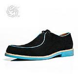 龙派Longpai时尚撞色反绒皮鞋LP124792